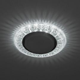 Светильник точечный Эра DK LD22 SL-WH cо светодиодной подсветкой Gx53 прозрачный
