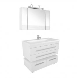 Зеркало Нота 100 белый 165372