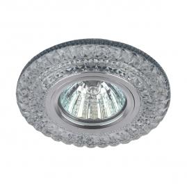 Точечный светильник Эра DK LD3 SL-WH+BL cо светодиодной бело-голубой подсветкой 3Вт прозрачный