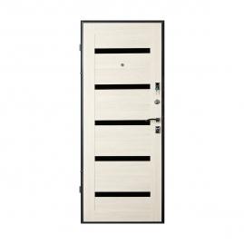 Дверь металлическая Valberg Стайл черный муар/беленый дуб 2066x980мм правая