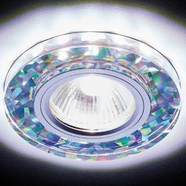 Светильник точечный Ambrella light S225 W-CH-WH белый, серебро MR16+3W LED WHITE