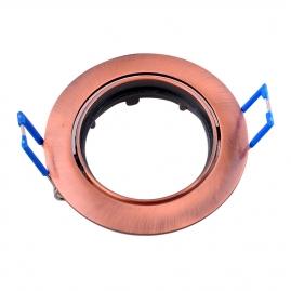 Точечный светильник Эра KL1A SC литой простой поворотный MR16,12V, 50W медь