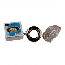 Светильник точечный Акцент 113АА1 встроенный, поворотный, черный никель-золото