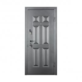 Дверь металлическая Valberg Виктория черный муар/беленый дуб 2066x880мм правая