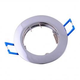 Точечный светильник Эра KL1 CH литой простой MR16, 12V, 50W хром