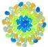 Галька декоративная, цветная 70шт, 2,5см, полистирол с флуоресцентным напылением 58305/18/6
