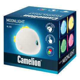 Ночник Camelion NL-302 светодиодный Рыба  RGB 14062