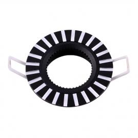 Точечный светильник Эра KL30 AL/BK алюминиевый MR16, 12V, 50W черный/серебро