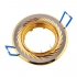 Точечный светильник Эра KL6A поворотный с гравировкой по кругу MR16, 12V, 50W сатин никель/золото