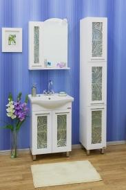 Зеркало Sanflor Валлетта 60 левый, зеркальные вставки