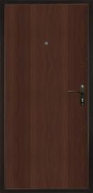 Дверь металлическая VALBERG Б1 ДТМ титан/итальянский орех 2050x850мм правая