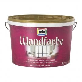 Краска для внутренних работ JOBI WandFarbe дисперсионная 10л