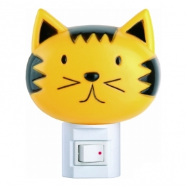 Ночник Camelion с выключателем, кошка, 220V, 7W NL-003
