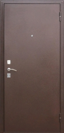 Дверь металлическая Стройгост 7-2 итальянский орех, левая 880х2060мм