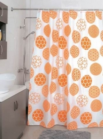 Шторка для ванной Milardo Orange dots 850P180M11