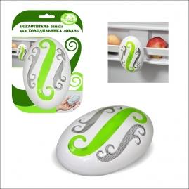Поглотитель запаха для холодильника Мультидом Овал J80-162