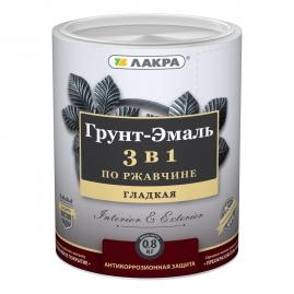 Грунт-эмаль 3в1 серый Лакра 0,8кг