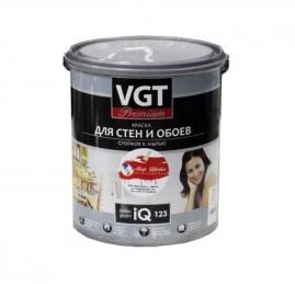 Краска ВГТ для стен и обоев IQ 123 база А 2л