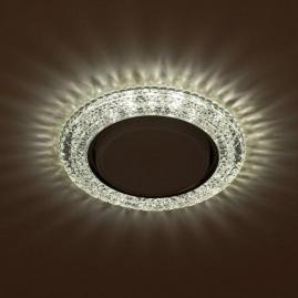 Светильник точечный Эра DK LD26 SL-WH cо светодиодной подсветкой Gx53 прозрачный
