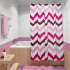 Штора для ванной комнаты Fora Темпур фукси PH190
