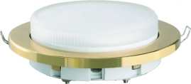 Светильник встраиваемый пластиковый Camelion золото FP1-GX53-G