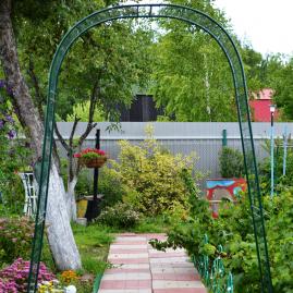 Арка садовая разборная Сетка узкая 2,5х0,25х1,2м К-102-1