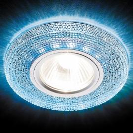Светильник точечный Ambrella light S290 BL хром сапфир MR16+3W LED WHITE