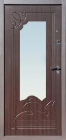 Дверь металлическая Ампир беленый дуб, левая 960