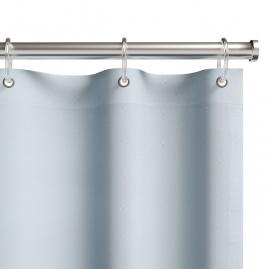 Шторка для ванной Fora Жаккард Белая 001-E