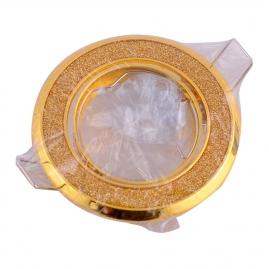 """Точечный светильник Эра Fashion DK18 """"круг со стеклянной крошкой"""" MR16, 12V золото/золотой блеск"""