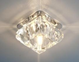Точечный светильник G4, 8048 хром/прозрачный