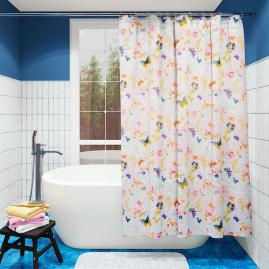 Шторка для ванной Fora Бабочки PH63