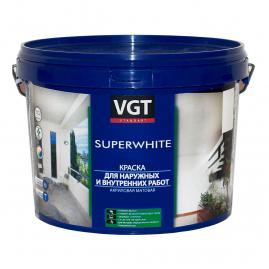 Краска ВГТ ВД АК-1180 супербелая, интерьерная, влагостойкая, для внутренних работ 1,5кг