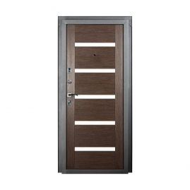 Дверь металлическая Valberg Стайл черный муар/венге 2066x880мм левая