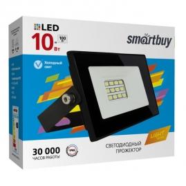 Прожектор светодиодный Smartbuy 10Вт 6500К IP65 FL SMD LIGHT черный SBL-FLLight-10-65K