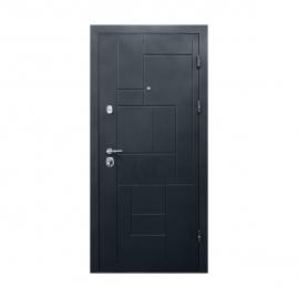 Дверь металлическая Valberg Соломон черный муар/Авеню венге 2066x880мм правая