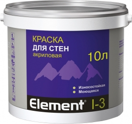 Краска Элемент I-3 для стен акриловая 10л