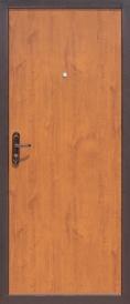 Дверь металлическая Стройгост 5-1 золотистый дуб, правая 980х2060мм