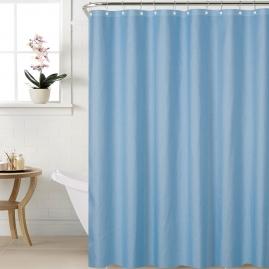 Штора для ванной комнаты Swensa Leer 240х200см серо-голубой, полиэстер SWC-90-80