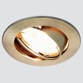 Светильник точечный Ambrella light 104S SB литой поворотный бронза MR16