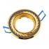 Точечный светильник Эра KL6A поворотный с гравировкой по кругу MR16, 12V, 50W черный металл/золото