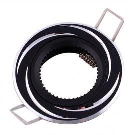 Точечный светильник Эра KL34 AL/BK алюминиевый MR16, 12V, 50W черный/хром