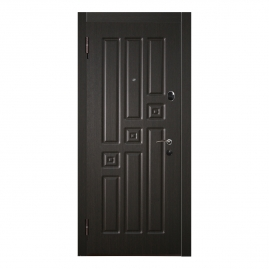 Дверь металлическая Меги 557-1862/1862 венге/венге 2050x870мм левая