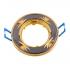 Точечный светильник Эра KL3A круглый поворотный с гравировкой MR16, 12V, 50W черный металл/золото