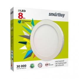 Светильник светодиодный Smartbuy Round накладной круг 8Вт 5000K IP20 120х40 бел SBL-RSDL-8-5K