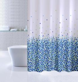 Шторка для ванной IDDIS Blue Pixels 600P18Ri11