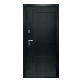 Дверь металлическая Мега дуб шале мореный 2066x980мм правая
