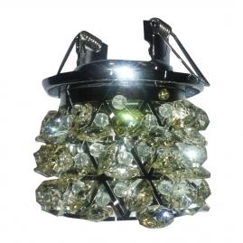 """Светильник АКЦЕНТ """"Crystal"""" 814 встраиваемый, хром шампань круглый с подвесками, шампань, MR16 GU5.3"""