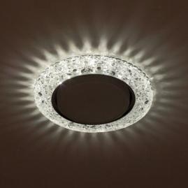 Светильник точечный Эра DK LD25 SL-WH cо светодиодной подсветкой Gx53 прозрачный