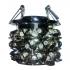 """Светильник АКЦЕНТ """"Crystal"""" 814 встраиваемый, хром дымчатый круглый с подвесками, MR16 GU5.3"""